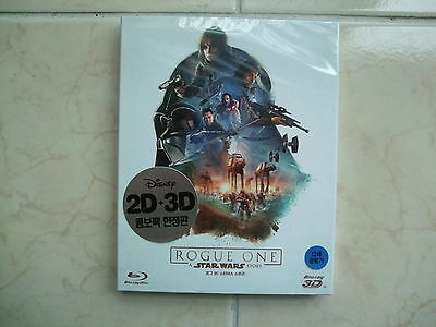 Rogue One: A Star Wars Story (2017, Blu-ray) 2D 3D Combo Slip Case Edition
