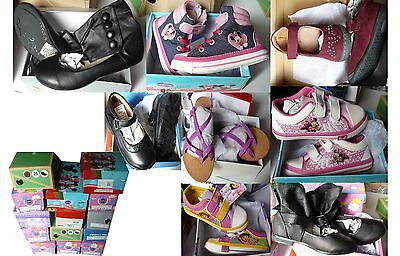 Wholesale Job Lot Children's Footwear Girls 14 Pairs Shoes/boots