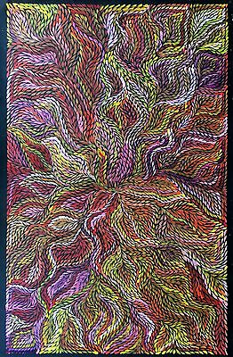 JEANNIE PETYARRE, Authentic Aboriginal Art. Incl, COA, Photo's, Bio..