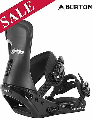 2017 Burton Infidel Snowboard Bindings UK 10+ Large Black RRP £105