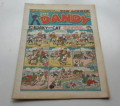 Dandy Comic #655 June 12th 1954 Vintage Beano 63rd Birthday Gift Bright