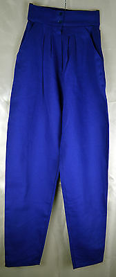 Vintage 1970's Very High Waist Blue Trousers Size 4/6