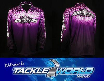 BIGFISH Purple Scale Fishing Sun Shirt Long Sleeve UPF 50+ TACKLE WORLD