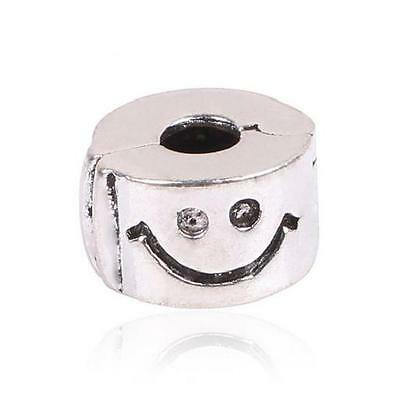 Charms Clip Stopper Emotione Emoji Smiley Securite Argent 925 Bracelet Europeen