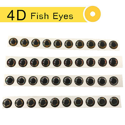 40-960PCS 3-6mm Fishing Lure Eyes 4D Holographic Eyes Fly Tying Jigs Crafts Doll