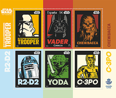 Spain - 2017 Star Wars Correos- 3D Stamp Miniature Sheet