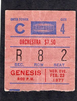 1977 Genesis concert ticket stub Madison Square Garden Wind & Wuthering Tour