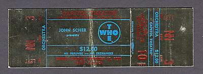 Orgiginal 1979 The Who Are You unused concert ticket Capitol Theatre Passaic NJ