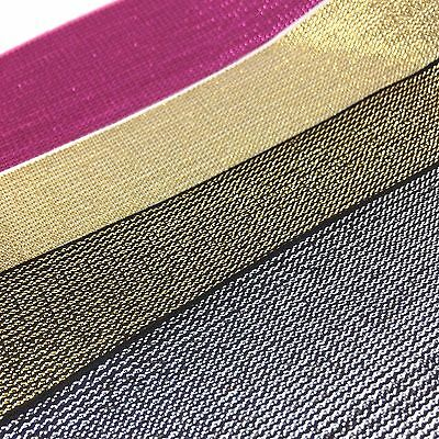 Top Quality Glitter Elastic With Metallic Thread, Gold, Red, Silver, Pink, Black