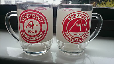 2 Aberdeen FC Large Glass Mugs