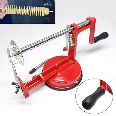 Manual Stainless Steel Twisted Potato Spiral Slicer French Fry Cutter Tool