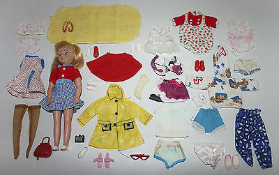 Vintage 1960s DOLL with TAMMY'S FAMILY PEPPER & PATCH OUTFITS - Sindy, Hong Kong