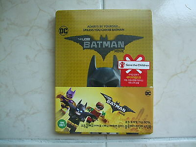 The LEGO Batman Movie (2017, Blu-ray) 2D + 3D Combo Steelbook Edition