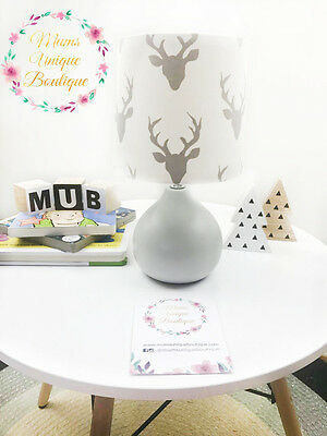 Buck Deer Head Animal Baby Children Nursery Table Lamp Night Light Touch Lamp