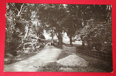 Lincolnshire - The Bridge Over the Brook, Somersby, PC PM 1915, People/Bicycles