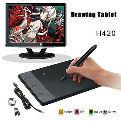 New Drawing Tablet Graphics Art Design Pad with Digital Pen +USB Cable