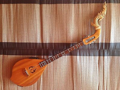High Quality Electric Acoustic Phin - Tradtional Thai Musical Instrument Guitar
