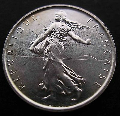 French 5 Francs 1969 Silver 12 g Semeuse