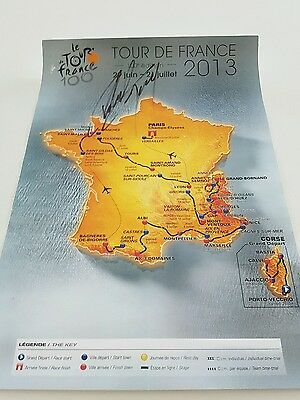 Personally Signed Peter Sagan  2013 Tour Defrance Poster/map