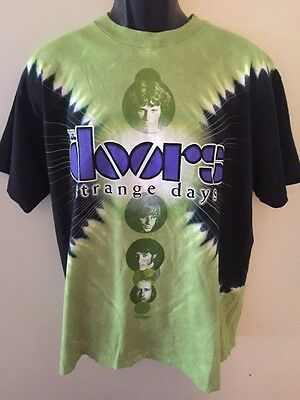 THE DOORS Strange Days Tie Dye T Shirt Sz Large L 2008 Liquid Blue Brand Cotton