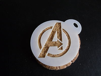 Laser cut small avengers design cake, cookie,craft & face painting stencil