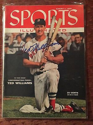Sports Illustrated Signed Ted Williams 8/1/55 PSA/DNA AA0147 NMT  PRICE REDUCED