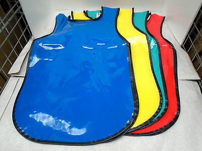 Childrens PVC Tabard Aprons Suit Age 6 - 8 Years Assorted Colours ( Pkt 4 )
