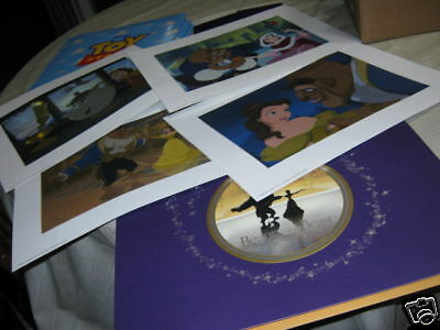 beauty and the beast lithograph set original 4