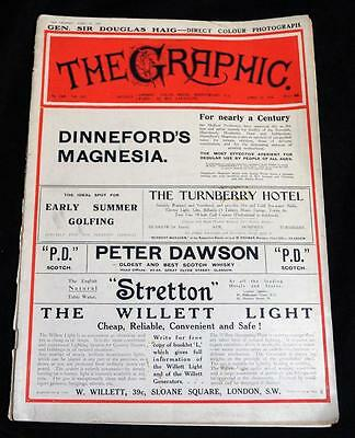 The Graphic An Illustrated Weekly Newspaper Magazine 24 April 1915 Wwi Vintage