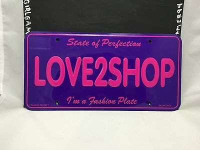 "Novelty State of Perfection ""Love2Shop"" Car/Bar/Room Metal License Plate"