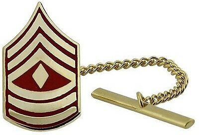 USMC Marine Corps Tie Tack Official Anodized Chevron First Sergeant 1STSGT