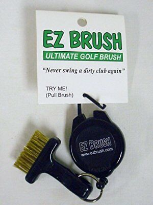 EZ Brush Ultimate Golf Brush Black Clip On Club Cleaning Tool NEW