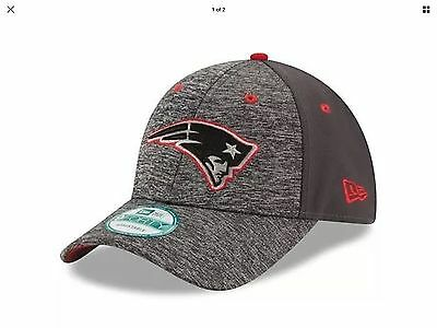 New England Patriots New Era 9Forty Shadow Adjustable Cap - Heather Grey/Graphit