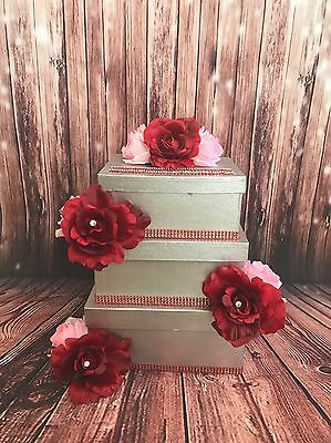 3 TIER WEDDING CARD BOX - Customize To Match Your Theme