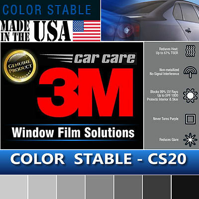 "3M Color Stable 20% VLT Automotive Car Truck Window Tint Film Roll 60""x6"" CS20"