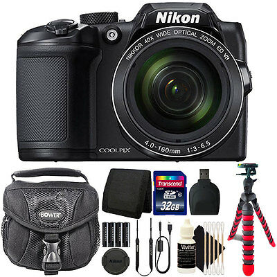 Nikon Coolpix B500 16MP Point and Shoot Camera with 32GB Accessory Bundle