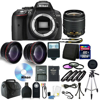 Nikon D3300 Digital SLR Camera with 18-55mm + 32GB + Top Accessory Bundle