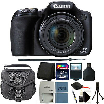 Canon PowerShot SX530 HS 16MP 50x Optical Zoom Digital Camera + 16GB Premium Kit