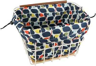 Olive And Orange By Orla Kiely Carrier Cycling Bicycle Bike Basket Liner Olive