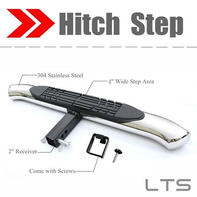 """Universal S.S 4"""" Hitch Step Bumper Guard For vehicles with 2"""" Receiver"""