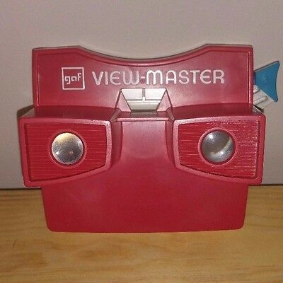 Vintage GAF View-Master Red And White w/ Blue Handle View Master Slide Reels