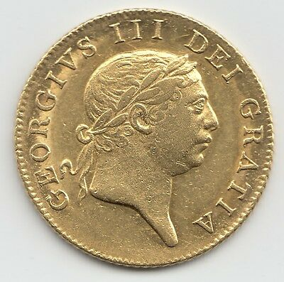 George Iii 1813 Gold Full Guinea - Military Type  - Extremely Rare