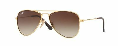 Ray Ban 9506 50 Aviator Junior 223/13 Gold Oro Sunglasses Bambino Occhiale Baby