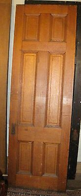 Tall Victorian Quartered Oak Raised Panel Door