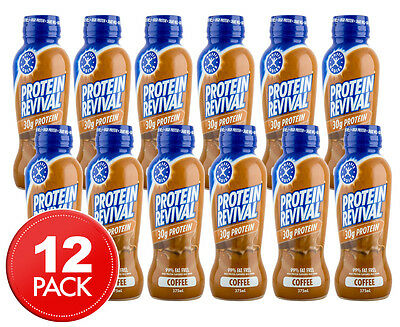 12 x Aussie Bodies Protein Revival Coffee 375mL