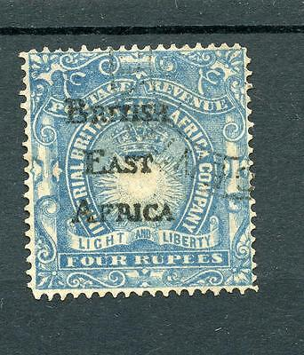 British East Africa 1895 Handstamped 4r ultramarine - forged example postal used