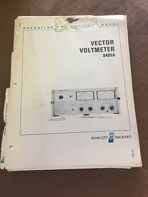 HP 8405A Vector Voltmeter Operating And Service Manual
