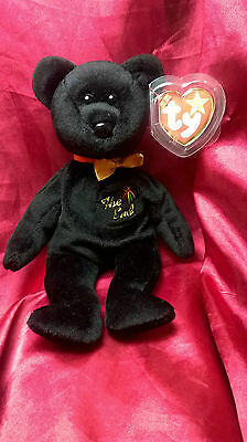 """The End"" Bear TY Original Beanie Baby 1999 With RARE TAG Handmade In China New"