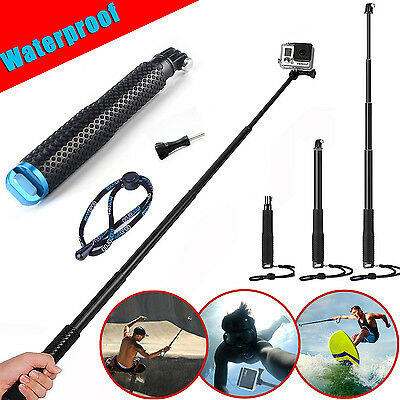 Sports Waterproof Monopod Selfie Stick Pole Handheld for GoPro Hero 5 4 3+ 3 2 1