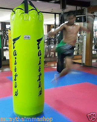GENUINE Fairtex Muay Thai Kick Boxing K1 MMA 7ft Pole Heavy Bag HB7 UnFilled
